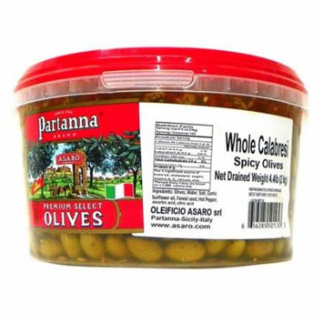 Partanna Premium Select Whole Calabresi Spicy Olives 70.4 oz