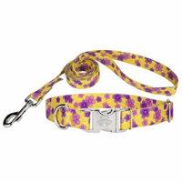 Country Brook Design® Purple April Blossoms Premium Dog Collar & Leash