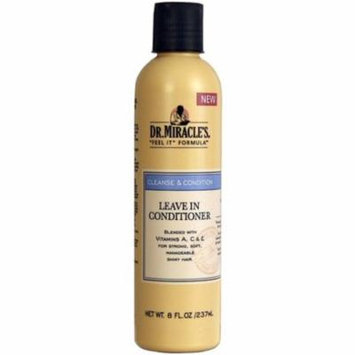 3 Pack - Dr. Miracle's Cleanse & Condition Leave-In Conditioner, 8 oz