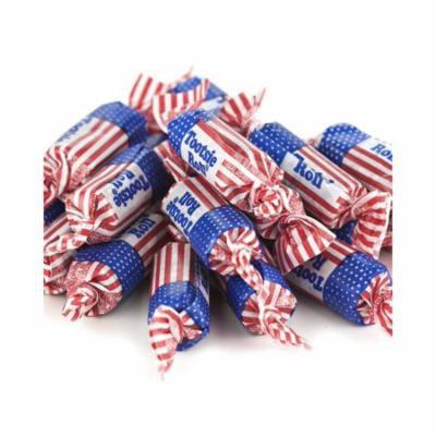 Patriotic Tootsie Rolls 1 pound Flag Tootsie Rolls bulk candy