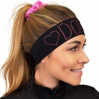 Dance Rhinestone Sparkly and Shiny Wide Headband - One Size / Hot Pink