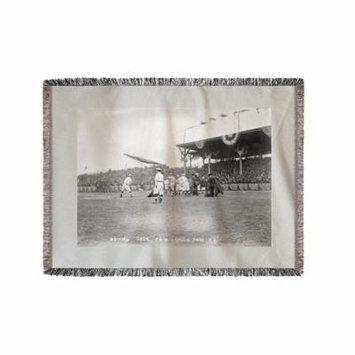 Batting Practice, NY Highlanders (Yankees), Baseball Photo (60x80 Woven Chenille Yarn Blanket)