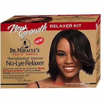 2 Pack - Dr. Miracle's New Growth Intensive No-Lye Relaxer Kit Super Strength, 1 ea