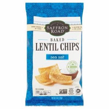 Saffron Road Sea Salt Baked Lentil Chips, 4 oz, 12 pack