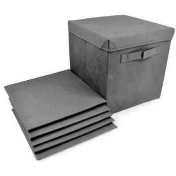 Ggi International Sorbus Foldable Storage cube Basket Bin Covers, 6 Pack - Grey