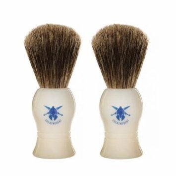 Dreadnought, The Ultimate Shaving Brush for Real Men, Badger Brush (2 Pack)