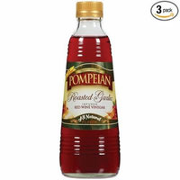 Pompeian Vinegar Roasted Garlic Infused Red Wine 16oz (6 Pack)