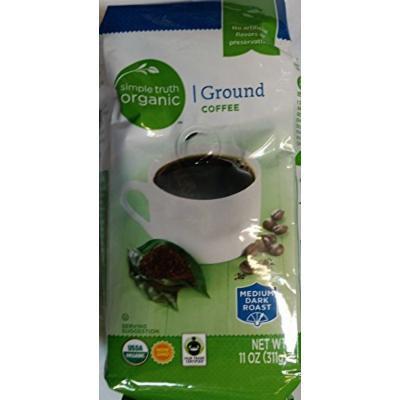 Simple Truth Organic Ground Coffee Medium Dark Roast 11 oz (Pack of 3)