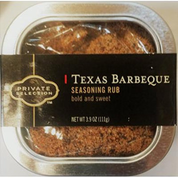 Private Selection Texas Barbeque Seasoning Rub 3.9 oz (Pack of 3)
