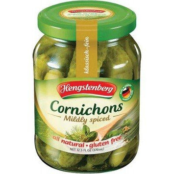 Hengstenberg Cornichons Mildly Spiced Pickles 12.5 oz. (Pack of 2)