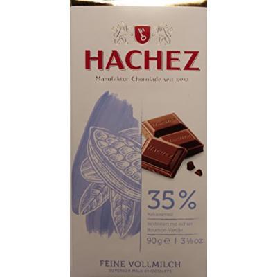 Hachez Superior Milk Chocolate 35% Cocoa Bars (3 x 90g)