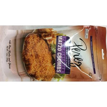 Pereg Full Flavored Matzo Crumbs Kosher For Passover 12 Oz. Pack Of 6.