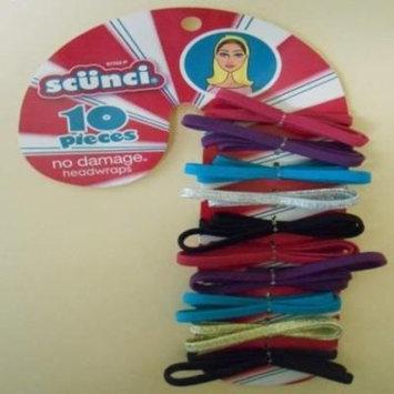 Scunci Pack of 10 Multicolored No Damage Headwraps