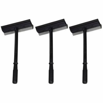 Black Duck Brand Window and Windshield Cleaning Sponge and Rubber Squeegee (3 Pack)