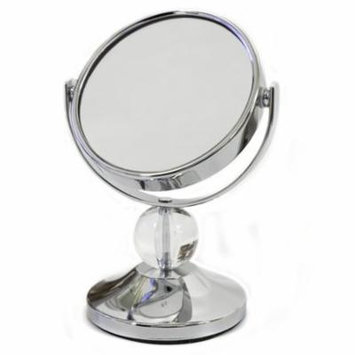 Sweet Home Collection Crystal Ball Mini Dual Sided Vanity Mirror