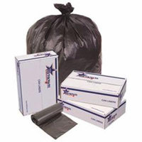 Renown Trash Can Liners, Black, 43X48, 22Mic, 25 Liners Per Roll, 6 Rolls Per Case