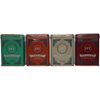 Harney & Sons Pumpkin Spice, Chocolate Mint, Vanilla Comoro, Peppermint Herbal Tea Bundle (Variety Pack of 4)