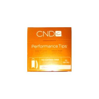 CND Performance Nail Tips 50-Count Clear Size 8