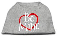 Mirage Pet Products 5153 LGGY Be Mine Screen Print Shirt Grey Lg 14