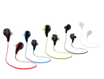 Vibes JOG In-Ear Bluetooth Headset with Built-in Mic Wireless Stereo Ear Buds Blue