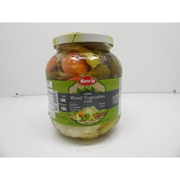 Sera Turkish Pickled Mixed Vegetables, Net Wt. 56.43 oz (Dr. Wt.35.27 oz)