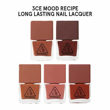 3CE Mood Recipe Long Lasting Nail Lacquer 5 colors SET (BR05, BR06, BR07, PK23, RD07)