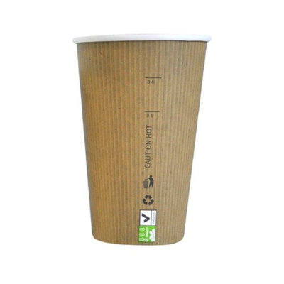 Packnwood 210GCBIO16 16 oz Nature Paper Cup 3.5 x 5.3 in.