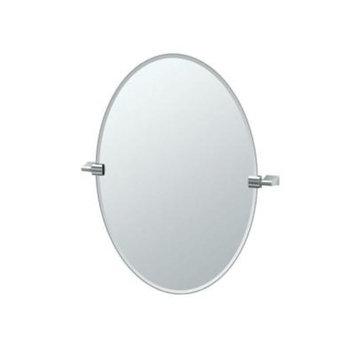 Gatco Bleu 24 in. x 27 in. Frameless Single Oval Mirror in Chrome