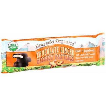 Heavenly Organics Honey Patties - Chocolate Ginger - 1.2 oz - Case of 16 - 95%+ Organic - Gluten Free - Dairy Free -