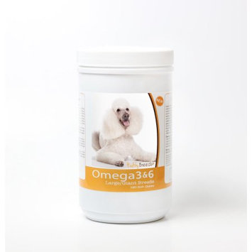 Healthy Breeds 840235143451 Poodle Omega 3 & 6 Soft Chews - 120 Count