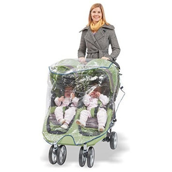 Comfy Baby! Universal Double Jogging Stroller Waterproof Rain Cover/Wind Shield