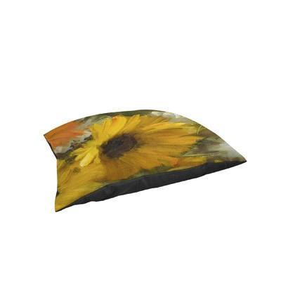 Thumbprintz Sunflowers Square II Indoor/ Outdoor Pet Bed
