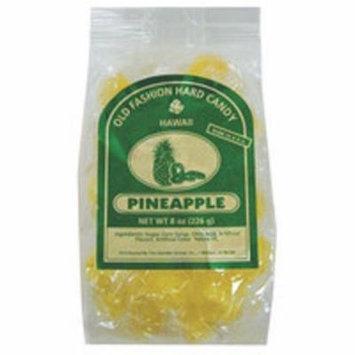 Pineapple Old Fashion Hard Candy Hawaii, 8 Ounce Resealable Bag