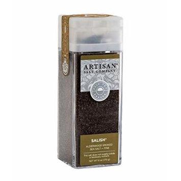Salish Alderwood Smoked Sea Salt - Fine - Artisan Salt Shaker Jar - 6 oz