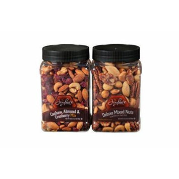 Jaybee's Mixed Nuts Gift Box, Featuring Salted Deluxe Mixed Nuts and Unsalted Cashew Almond Cranberry Mix Perfect Birthday & Holiday Gift