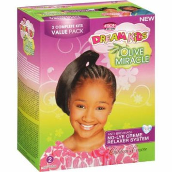 African Pride Dream Kids Olive Miracle Children's Coarse No-Lye Creme Relaxer Systems, 2 count