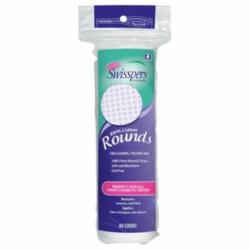 Swisspers Multi-Care Cotton Rounds 80.0 ea(pack of 6)