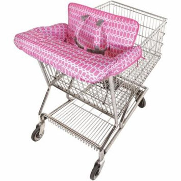 On the Goldbug 2-in-1 Shopping Cart and High Chair Cover, Pink