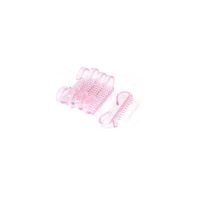 Beauticom 5 Piece Pink Plastic Manicure Brush