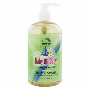Rainbow Research - Baby Oh Baby Herbal Body Wash Unscented - 16 oz.(pack of 3)