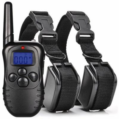 Dog Training Anti Bark Collar NO Barking with Remote Rechargeable and Waterproof E-collar Pet Trainer with Beep Vibration Electric Shock Collar for 2 Dogs 300 Yard