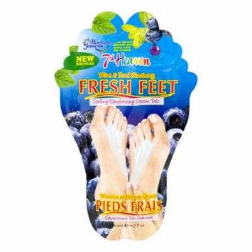 7th Heaven Fresh Feet Deodorizing Foot Cream, Mint & Blueberry, 0.7oz