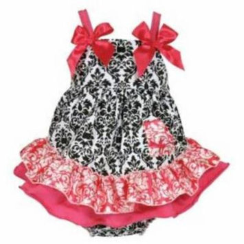 Stephan Baby Swing Top and Ruffled Diaper Cover, Little Diva Hot Pink and Black, 18-24 Months