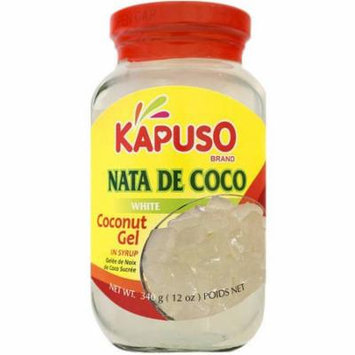 Kapuso Brand Nata de Coco White Coconut Gel in Syrup, 12 oz