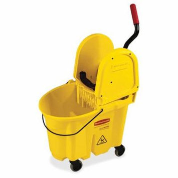 Rubbermaid Commercial Products WaveBrake Down Press Combo 35 Qt. Mop Bucket with Wringer