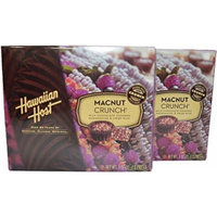Hawaiian Host MacNut Crunch Milk Chocolate Covered Macadamia Nuts & Rice Crisp 3 oz box, Pack of 2