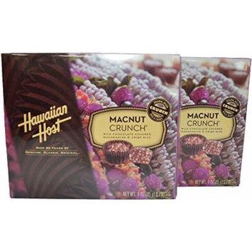 Hawaiian Host MacNut Crunch Milk Chocolate Covered Macadamia Nuts & Rice Crisp 3 oz box, Pack of 2