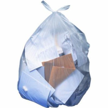 Hirsh Industries Clear Linear Low-Density Trash Bags, 25 Count