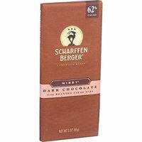 Scharffen Berger Chocolate Bar - Dark Nibby - Dark Chocolate - 62 Percent Cacao - Roasted Cacao Nibs - 3 oz Bars - Case of 12