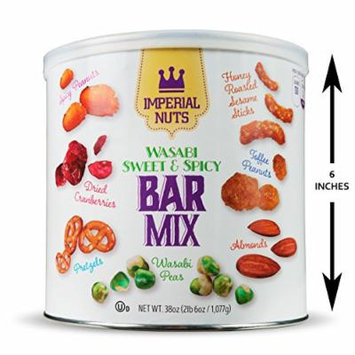Imperial Mixed Nuts Wasabi Sweet & Spicy Bar Mix 38oz - Great for a Daily Snack